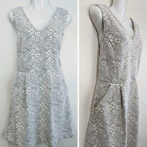 Tabitha   Quilted Floral White Black Dress 12